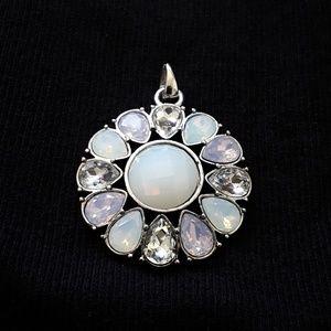 Jewelry - 💖Silver Simulated Teardrop Opal Pendant